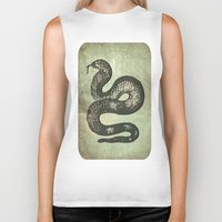 snake Biker Tanks featuring Snake by LoRo  Art & Pictures