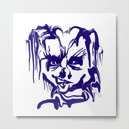 face14 blue Metal Print