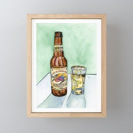 Kirin Beer and Glass Framed Mini Art Print