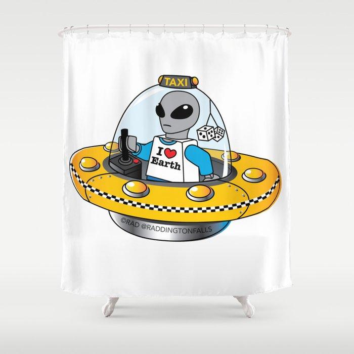 Alien Taxi Shower Curtain