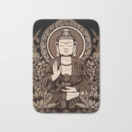 Siddhartha Gautama Buddha Wood Grain Bath Mat