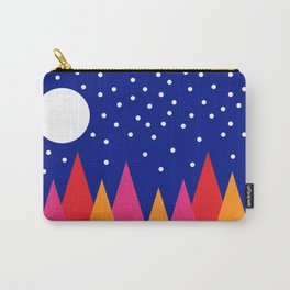 Moonlit Christmas Trees Carry-All Pouch