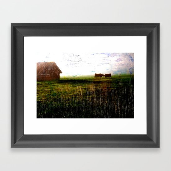 Cows of Bavaria II Framed Art Print