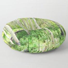 Aspen Trees Floor Pillow