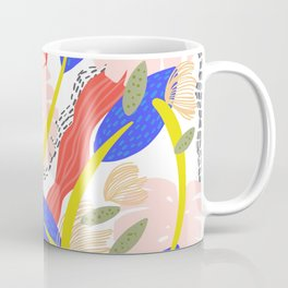 Soft Leaves Pattern Coffee Mug