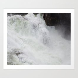 The River Is Wild! Churning River, Wild Waterfall, Beautiful Water Art Print