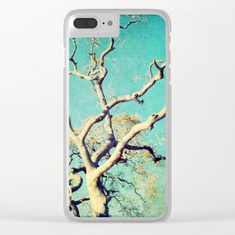 Bronze Tree Clear iPhone Case