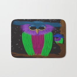 The Prismatic Crested Owl Bath Mat