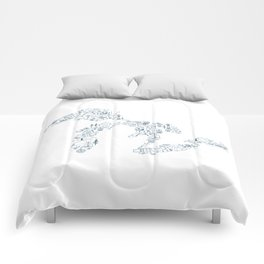 Great Lakes Up North Collage Comforters