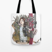 allison argent Tote Bags featuring Allison Argent - We protect those who cannot protect themselves by MonsterFromTheLAke