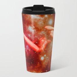 Red Galaxy Woman : Nude Art Travel Mug
