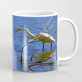 Egret and Turtle: Opposites Attract (Chicago North Pond Collection) Coffee Mug