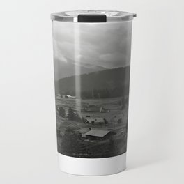 Carpathian Mountains Shrouded in Mist Travel Mug