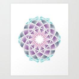 GeoFlower . Geometric Collection Art Print