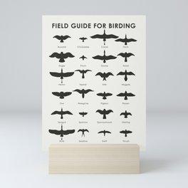 Field Guide for Birding Mini Art Print