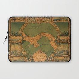 Historical Map of Panama Laptop Sleeve
