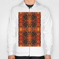 Red Yellow Sparkling Pattern Hoody