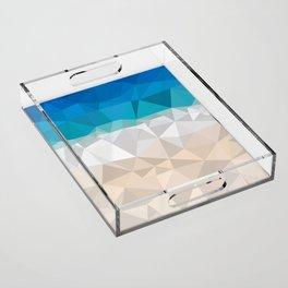 Low poly beach Acrylic Tray