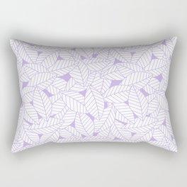 Leaves in Lavender Rectangular Pillow