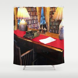 Pearl S Buck Library Shower Curtain