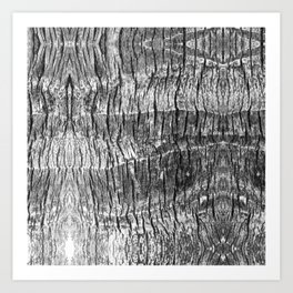gray wood grain texture biophilic wood nature print Art Print