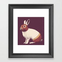 Lapin Catcheur (Rabbit Wrestler) Framed Art Print
