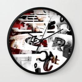 LETRAS - BONS ARES 2 Wall Clock