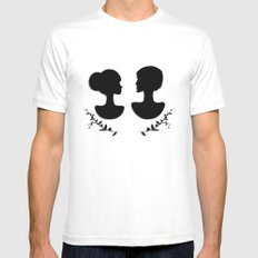 silhouettes White MEDIUM Mens Fitted Tee