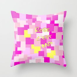 Pink is Me Throw Pillow