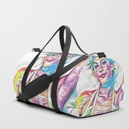 Eva Mendes (Creative Illustration Art) Duffle Bag