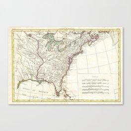 Thirteen Colonies Vintage Map (1776) Canvas Print