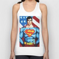 man of steel Tank Tops featuring Man of Steel by Dave Franciosa