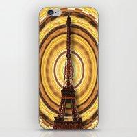 eiffel tower iPhone & iPod Skins featuring Eiffel Tower by Elena Indolfi