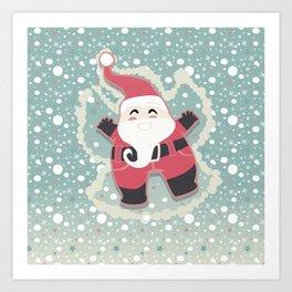 Festive moments - Snow Angel! Art Print