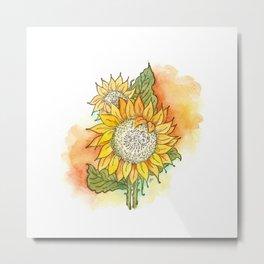 Bold Sunflower Metal Print