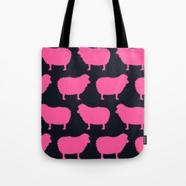 Sheep Pink Tote Bag