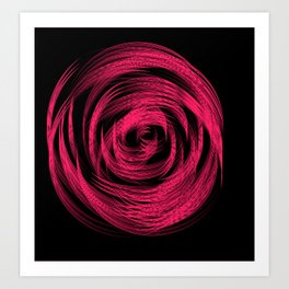 Neon Pink Loop Art Print