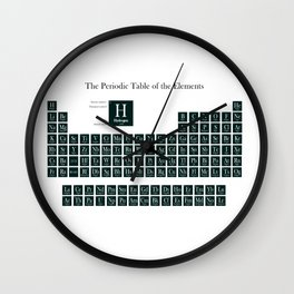 Periodic Table of Elements - Forest Green Wall Clock