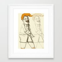 ginger Framed Art Prints featuring Ginger by Seth Duhy