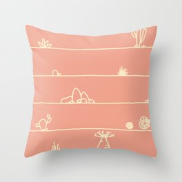 Stand Tall Under the Heat Throw Pillow