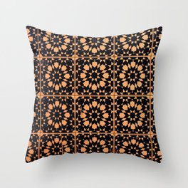 Arabic Tiles Throw Pillow
