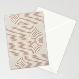 Burnt Orange Line Art Stationery Cards