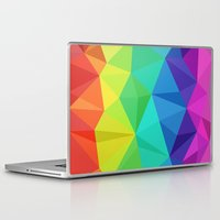 low poly Laptop & iPad Skins featuring rainbow low poly by tony tudor