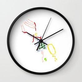 Grating potatoes Wall Clock