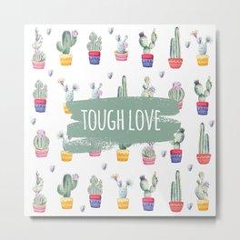 Cactus Flowers Love Metal Print