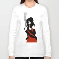 noir Long Sleeve T-shirts featuring Noir by Dvasiia Art