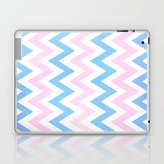 Blue pink Chevron Pattern Laptop & iPad Skin