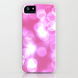 Pink Bokeh iPhone Case