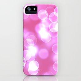 Pink Bokeh iPhone Case