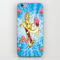 howl iPhone & iPod Skins featuring Howl by Kyle Baker's QUALITY JOLLITY